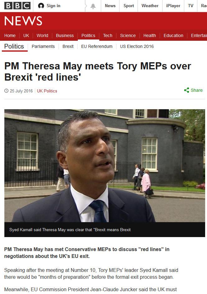 Syed Kamall MEP on BBC